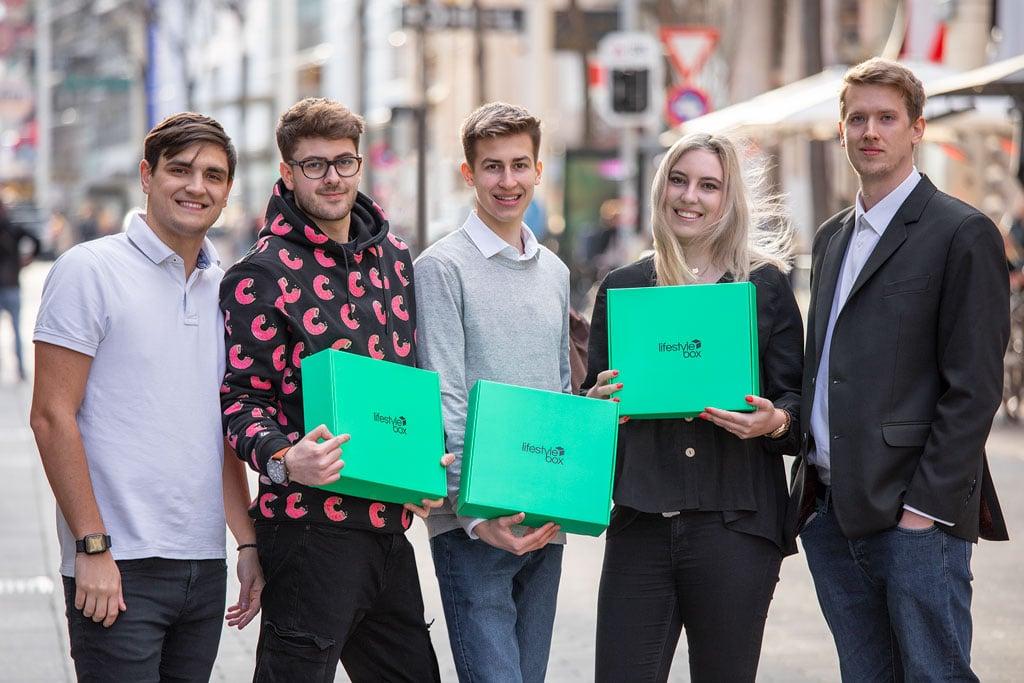 Das Lifestylebox Team, Moritz Lechner, Chris Pollak, Dominik Fath, Hannah Filzwieser und Jan Hornbachner.